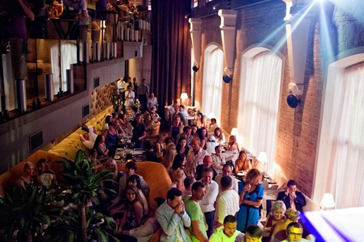 Soho Rooms nightclub Moscow crowd having fun dancing partying lights show
