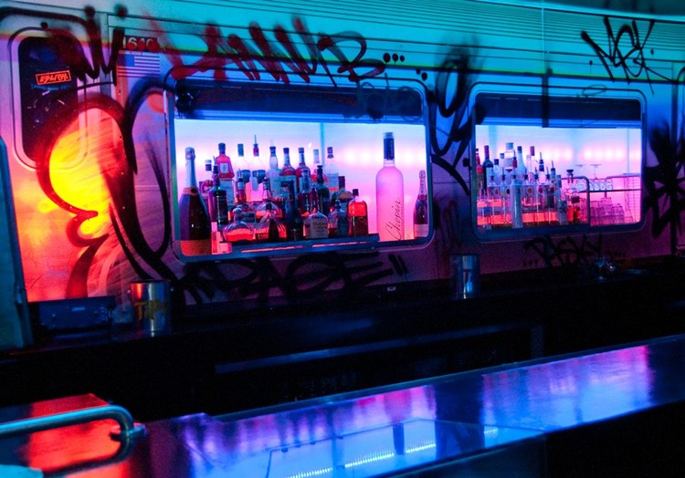 Party at Station 1640 VIP nightclub in Los Angeles