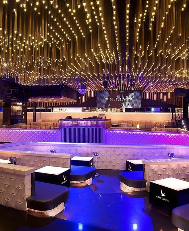 Sutton nightclub Barcelona view of the lounge area modern design