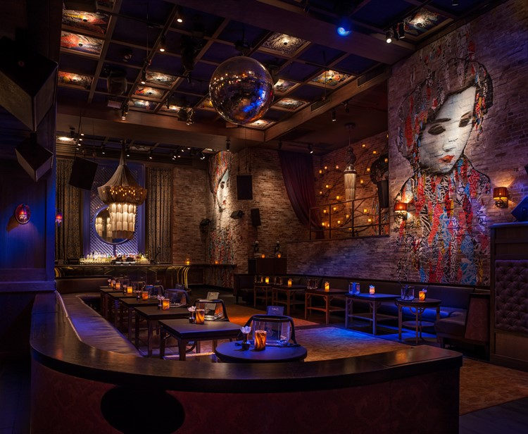 Party at Tao New York VIP nightclub in New York