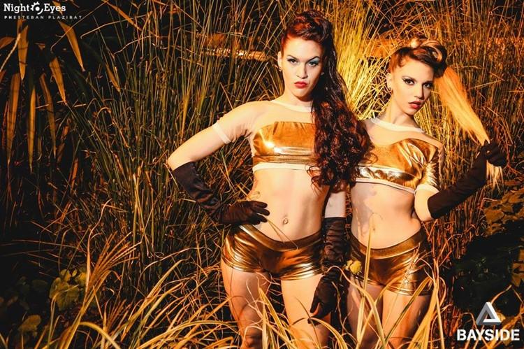 Terrazas del Este nightclub Buenos Aires two exotic dancers dressed in sexy costumes