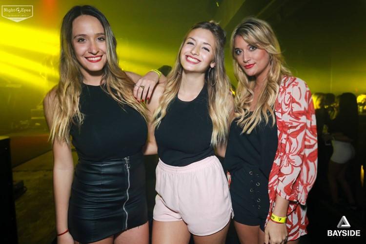 Terrazas del Este nightclub Buenos Aires three pretty girls having fun partying blondes