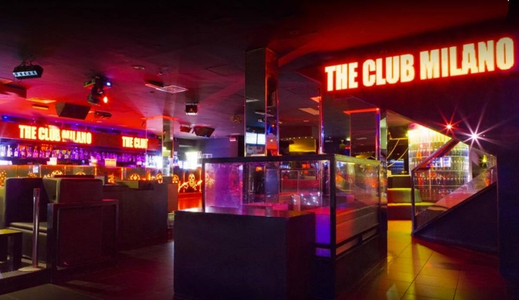 Party at The Club VIP nightclub in Milan