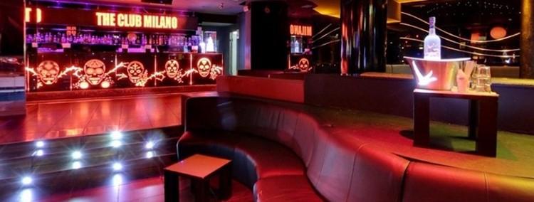 The Club nightclub Milano view of the dance floor lounge area