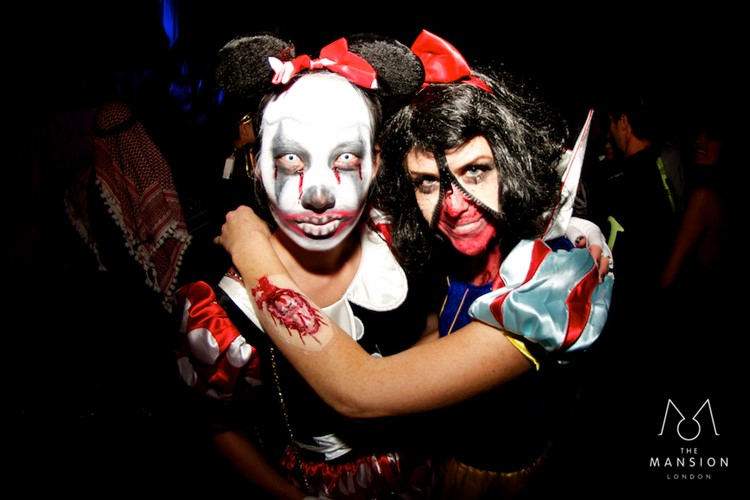 The Mansion night house club London private Halloween event party girls zombie snow-white Minnie Mouse costumes