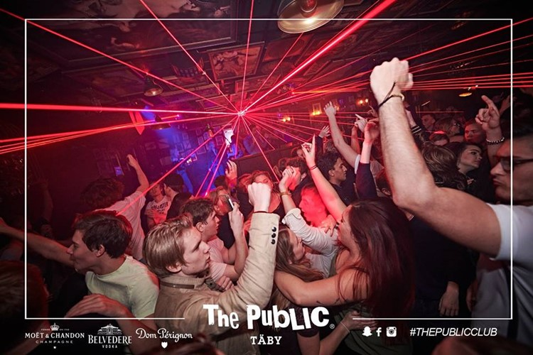 The Public Club nightclub Täby Stockholm fun party people dancing lights event