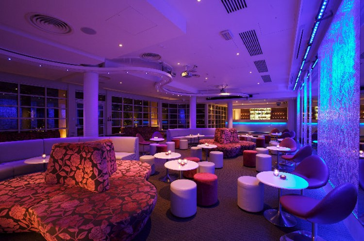 Party at The Roof Gardens VIP nightclub in London