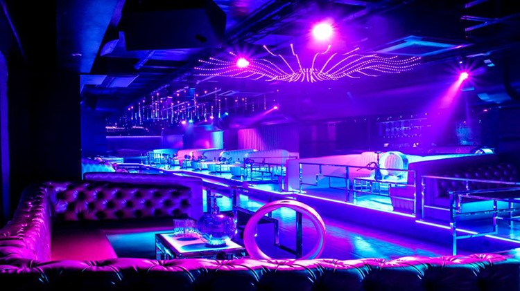 Tibu nightclub Marbella corner of the club lights