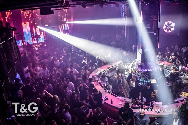 Tongue and Groove Club nightclub Atlanta big party event show lights crowd partying dancing