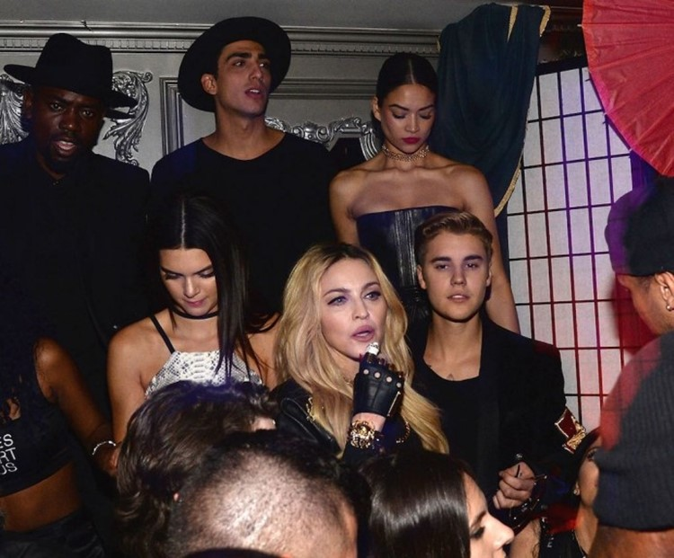 Up and Down nightclub New York celebrities Madonna Justin Bieber Jenner singers and influencers at an event