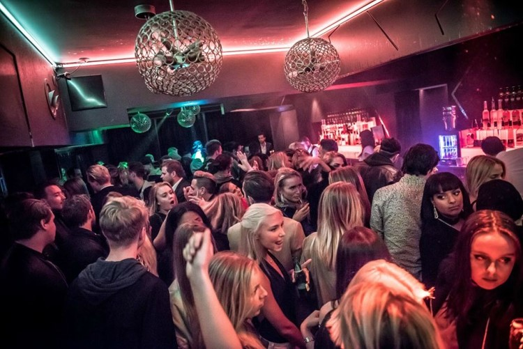 Party at VIDA VIP nightclub in Stockholm