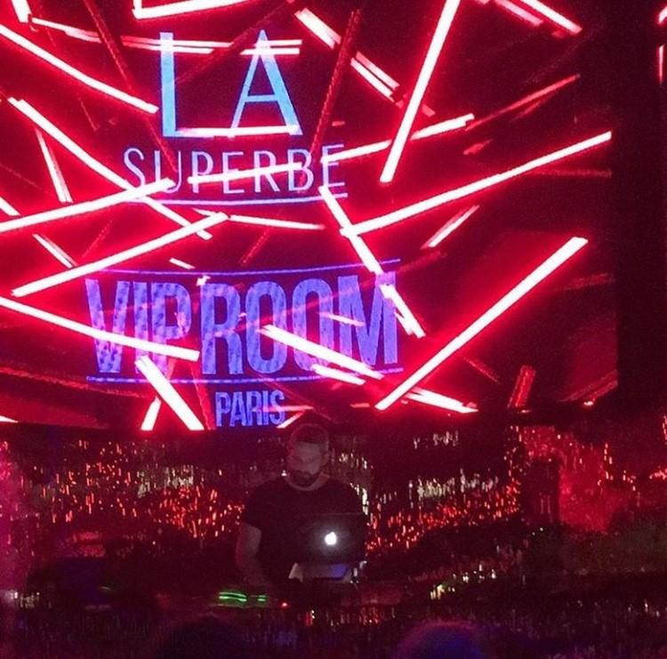 VIP Room nightclub Paris dj mixing music LA Superbe night red lights