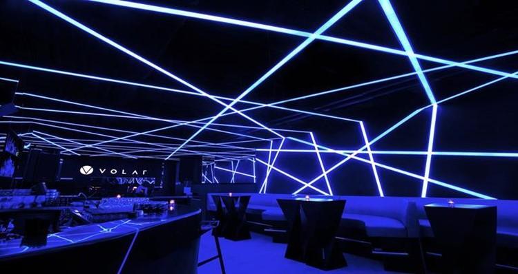 Volar nightclub Hong Kong view of lounge area modern interior design