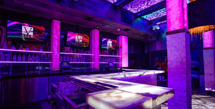 Vyce Lounge Club nightclub Orlando interior lights lounge area