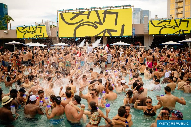 Party at Wet Republic VIP nightclub in Las Vegas. Find promoters for guest list in Clubbable