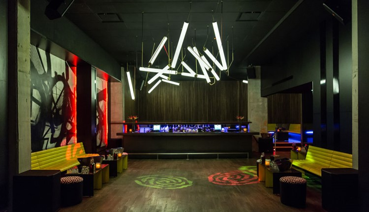 Wildflower nightclub Toronto view of the bar dance floor and lounge areas