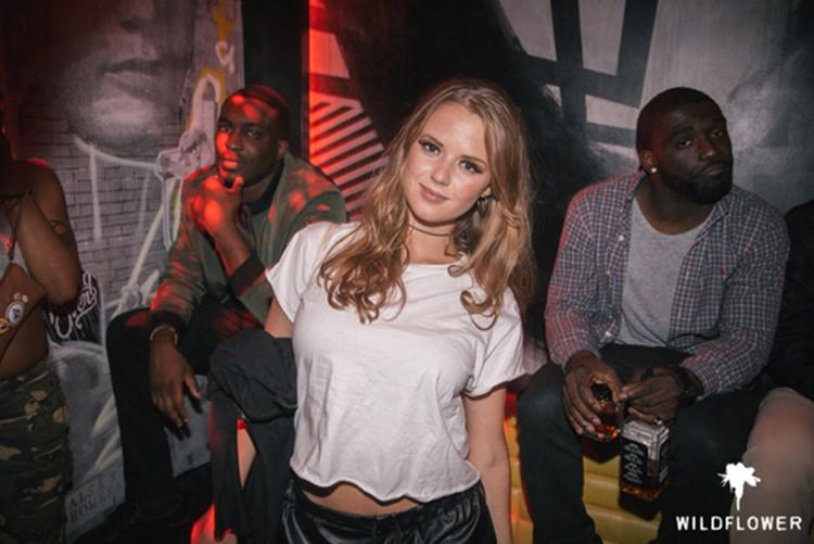 Wildflower nightclub Toronto blonde pretty girls with two black men having fun