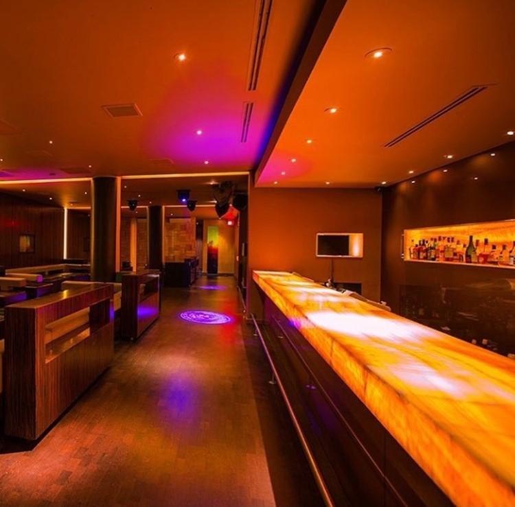 Ybar nightclub Chicago bar area