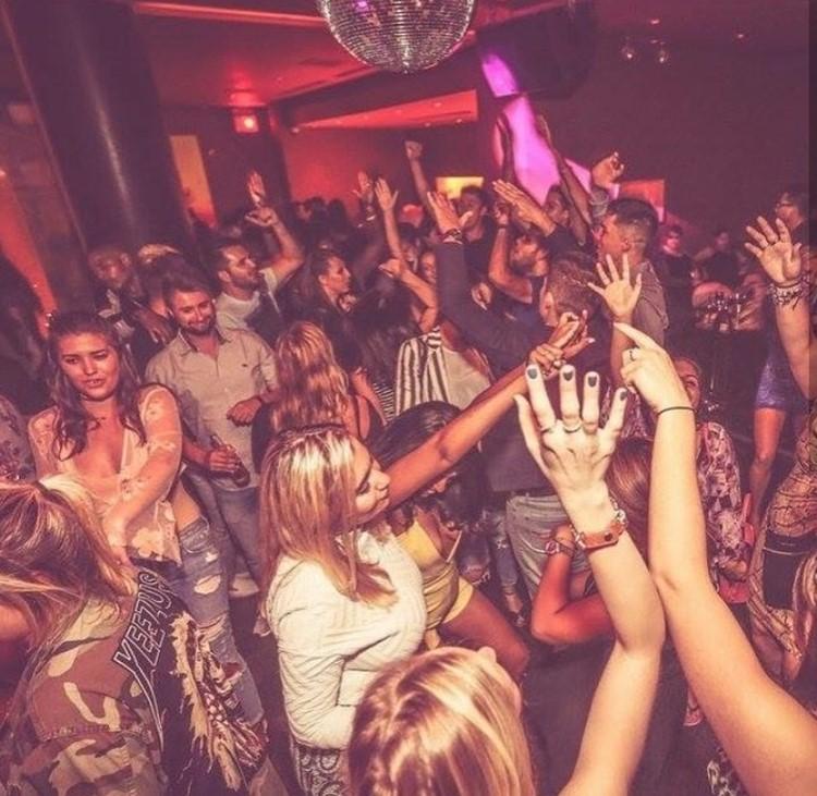 Ybar nightclub Chicago crowd having fun dancing