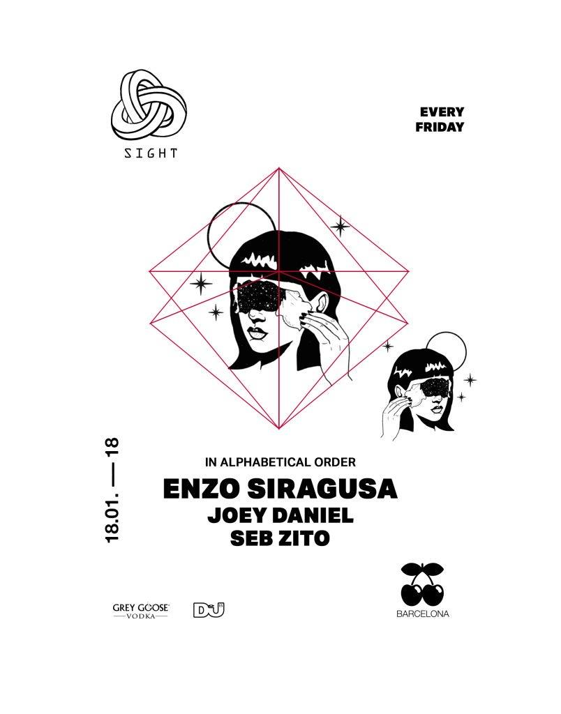 Sight Pres. Enzo Siragusa, Joey Daniel and Seb Zito  at Pacha in Barcelona 18 Jan 2019
