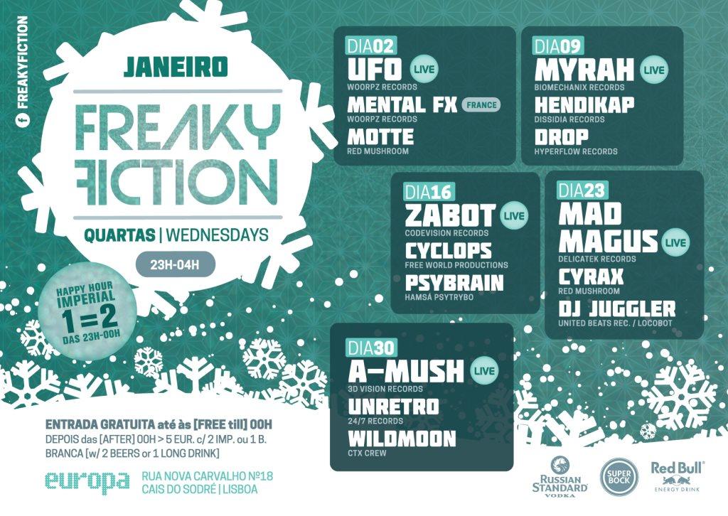 Freaky Fiction  at Europa in Lisbon 23 Jan 2019