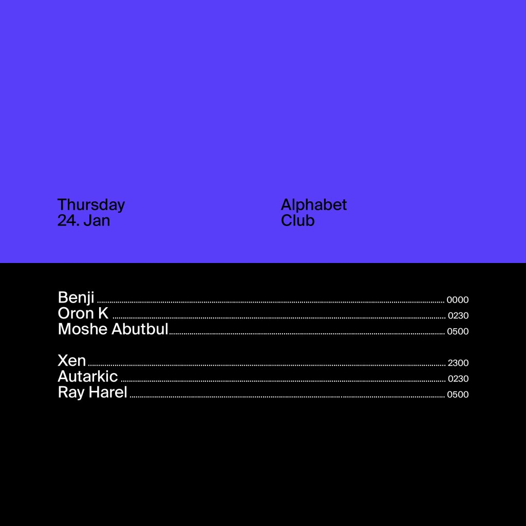 Thursday  at Alphabet in Tel Aviv 24 Jan 2019