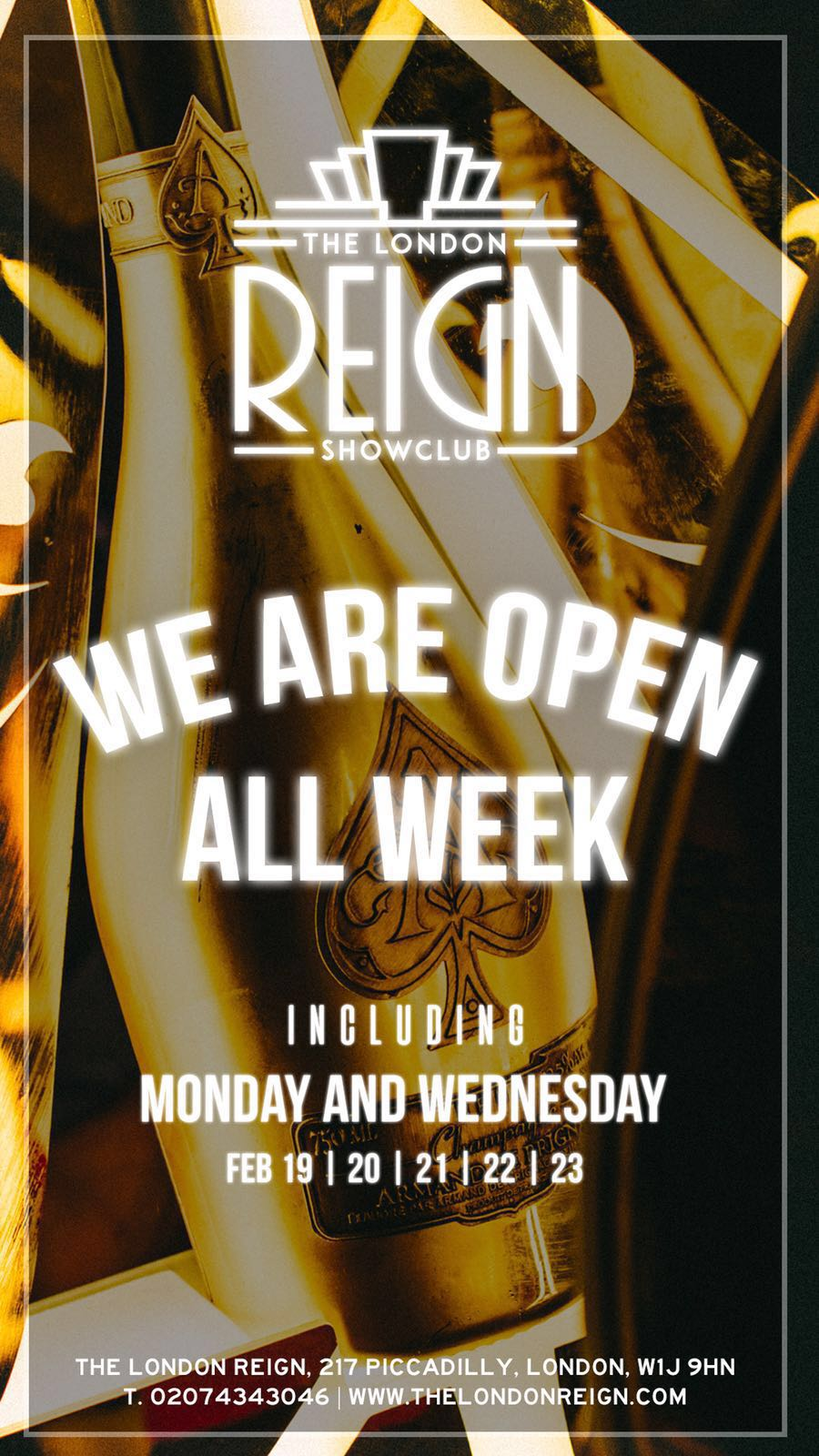 Reign Showclub in London 21 Feb 2018